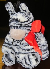 Samantha's Red Zebra